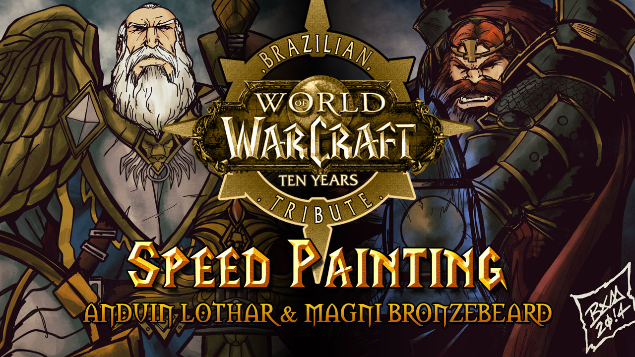 Speed Painting: World of Warcraft Tribute – Anduin Lothar & Magni Bronzebeard
