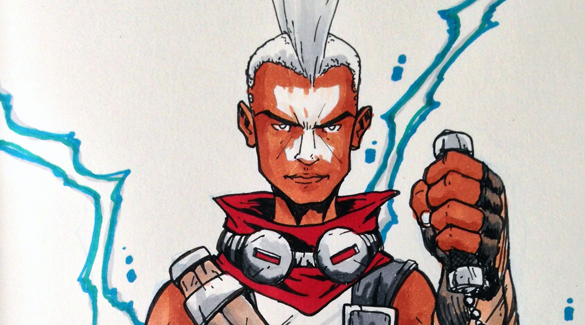 Rabiscopics: Ekko, de League of Legends