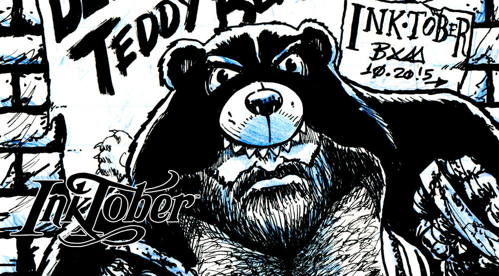 InkTober – Beware the Teddy Bear