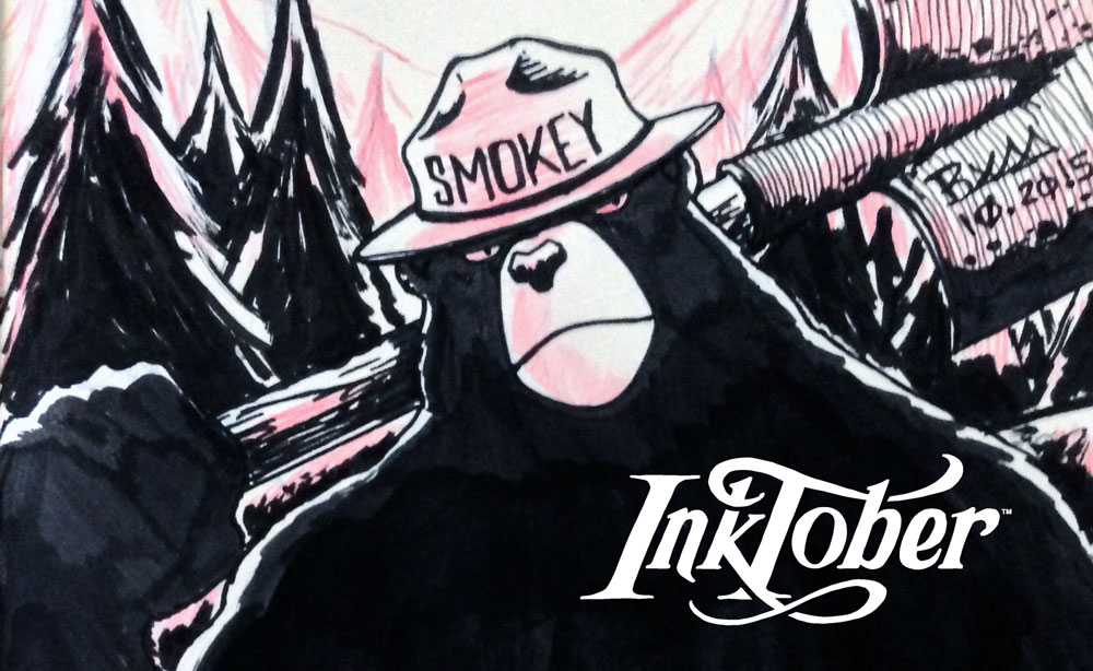 InkTober – Smokey Bear