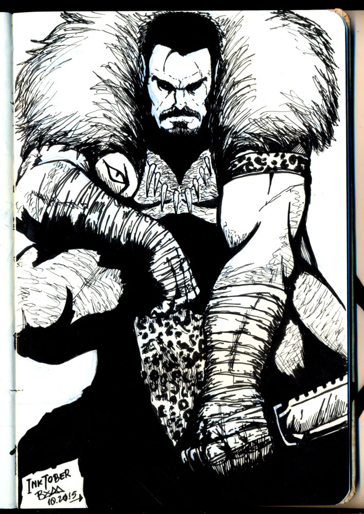 kraven_inktober_by_marco_bym