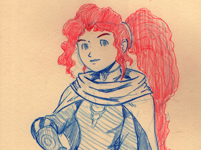 #sketchember'17 – #14 Disney Fantasy: Merida
